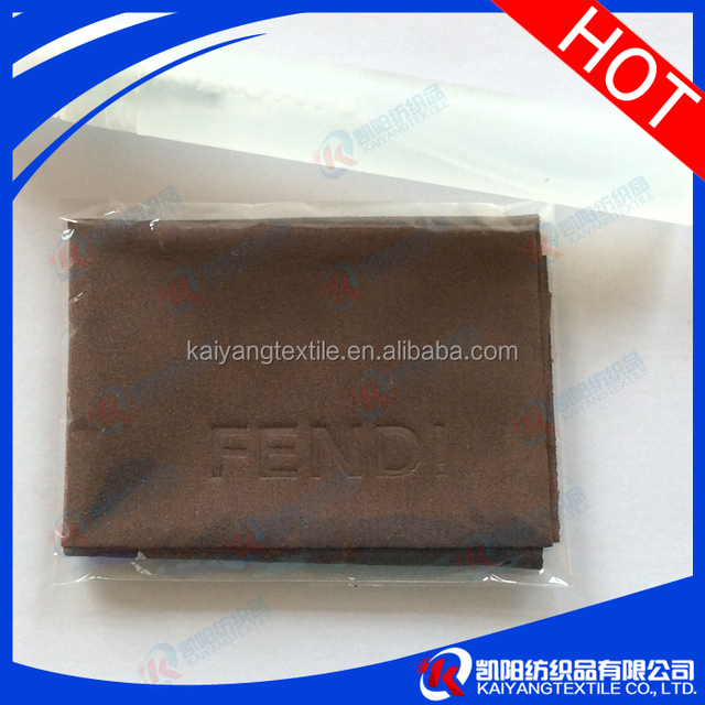china microfiber cloth with embossed logo cosmetic package