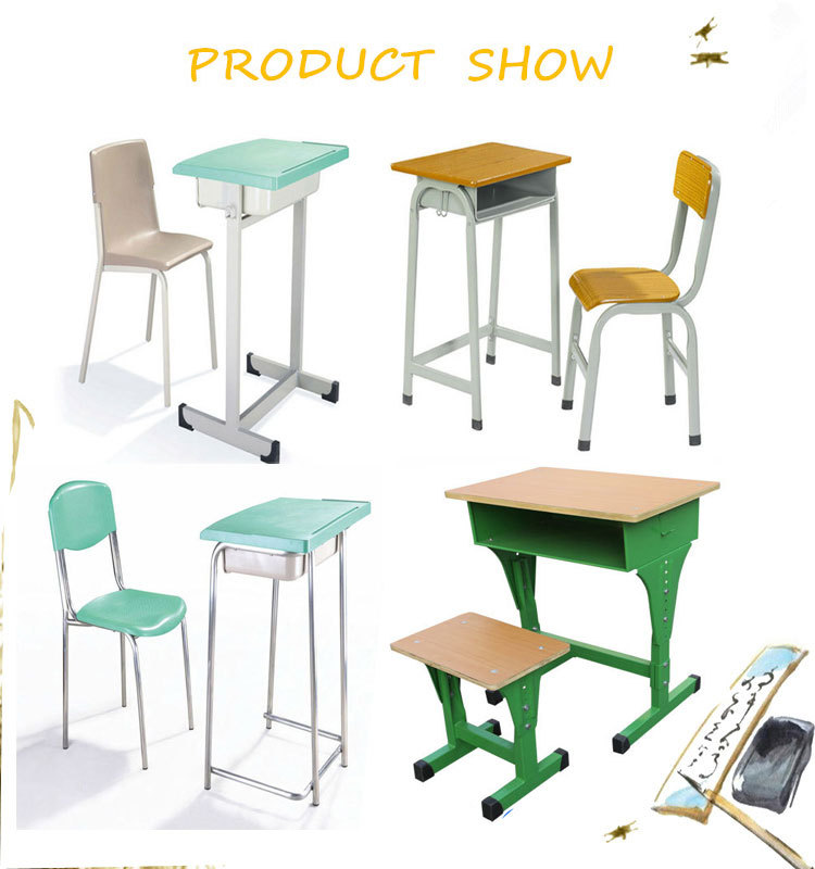 2017 High Quality Student Desk Chair School With Bench Chinese New Design Clroom Furniture