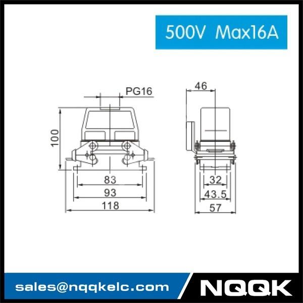 2 HDC HE 02S 500V Max16A  Industrial rectangular plug socket heavy duty connector.jpg