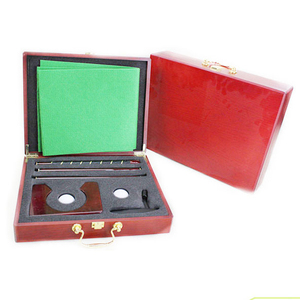 Wholesale high quality Red wood box golf putting gift set/ideal home and office use gift set