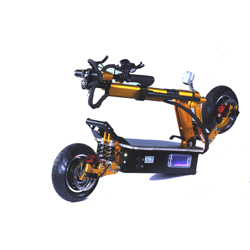 New arrival powerful 60V 10 inch fat tire dual hub motor 2000W electric scooter with seat