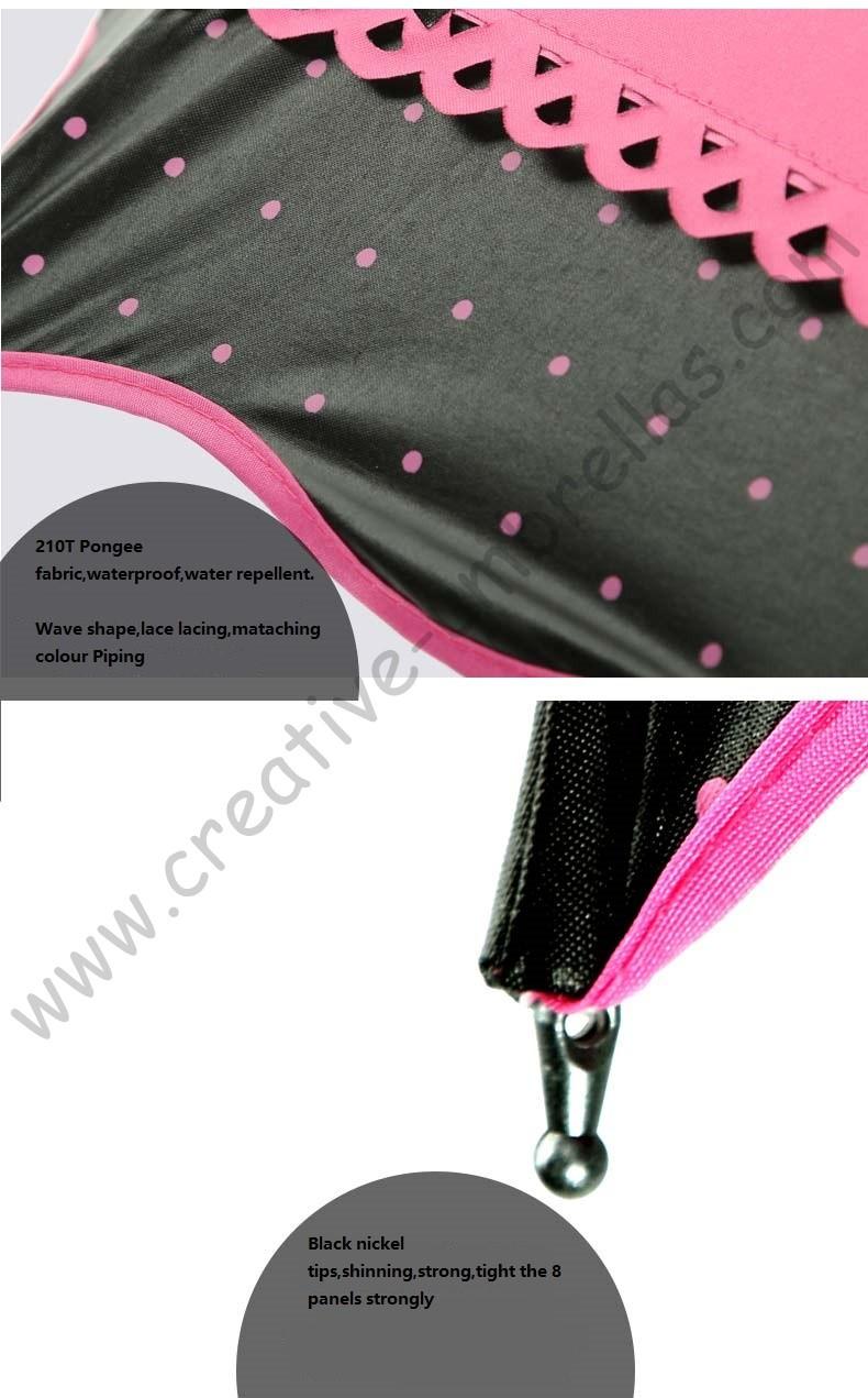 3pc lot colour option summer folding mini sunny umbrella 5 times black  coating Anti-UV fruit green two layers lace parasol - us608 a40b5982a86