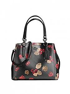 007b44ab36e6 Get Quotations · Coach F55539 Halftone Floral PVC Canvas Minetta Crossbody  Bag Black Multi