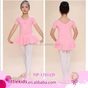 4a31e8e0b Pink Short-sleeve Kids Girl s Rhythmic Gymnastics Fancy Ballet ...