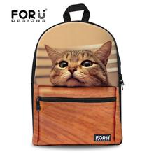 Fashion Children School bags Cute 3D Animal Cat Schoolbag for Girls Casual Kids Women Shoulder School Book bag Mochila Escolar