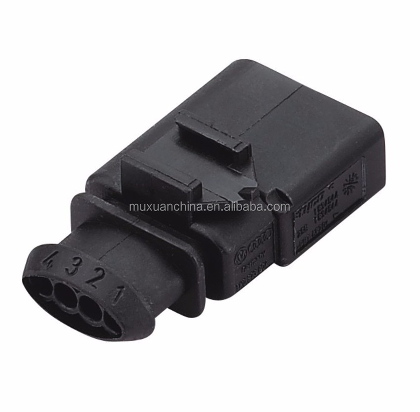 CNKF 10 Sets Bosch 1.5mm 2 pin male female waterproof Sensor auto connector includes terminals and seals for VW Audi 1J0973702 1J0973802