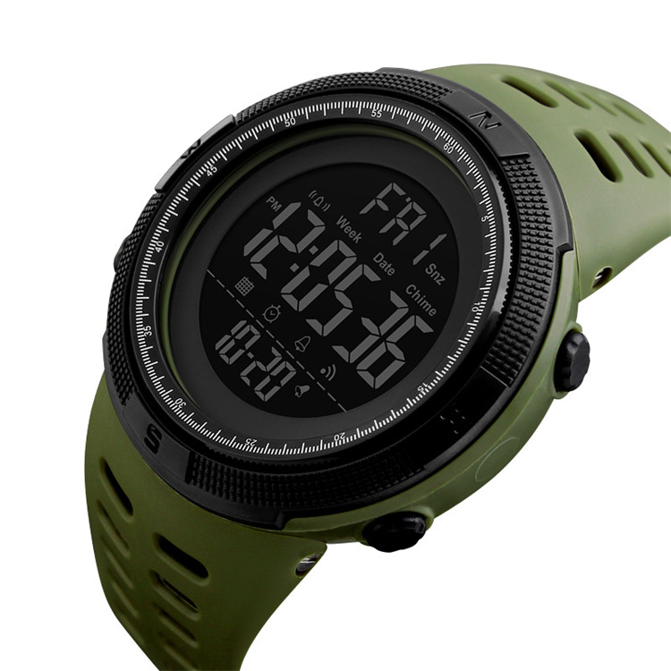 Top selling Cheaper price 50M water resistant wristwatch men plastic watch reloj skmei 1251, 7 color