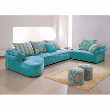 New L Shaped Promotion Sectional Fabric Sofa Set Designs