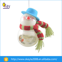 Unique Christmas tree snowman hanging ball ornaments,hanging ball with LED