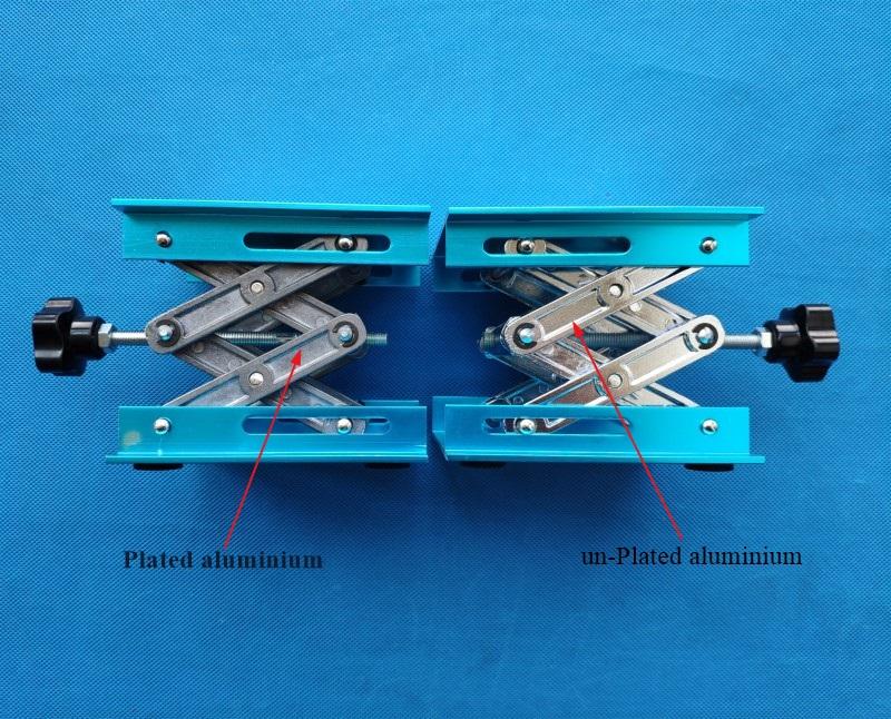 8 4*8 4 to 25*20cm Anodized Aluminum laboratory Scissor Jack