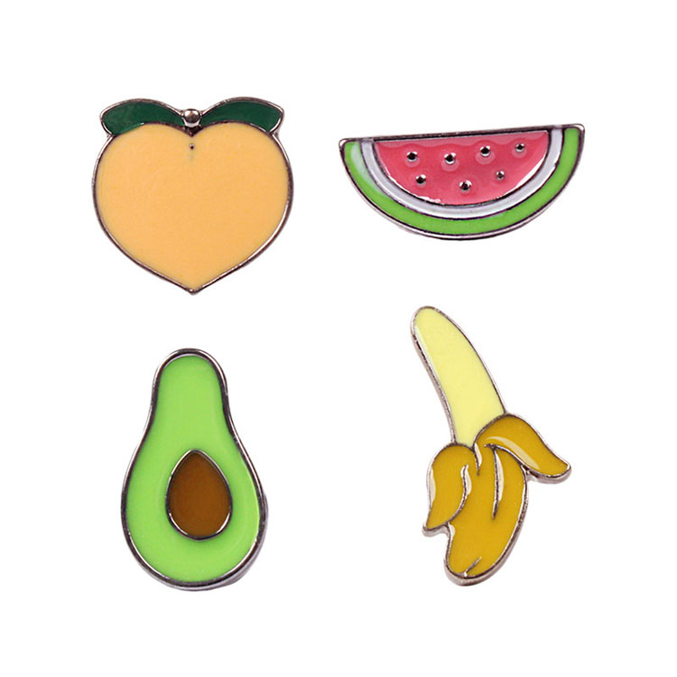 Jewelry Fashion Collar Pins Brooches Funny Fruit Avocado Label Pin Badge Cheap Custom Bulk Enamelled Brooch for DIY 500284