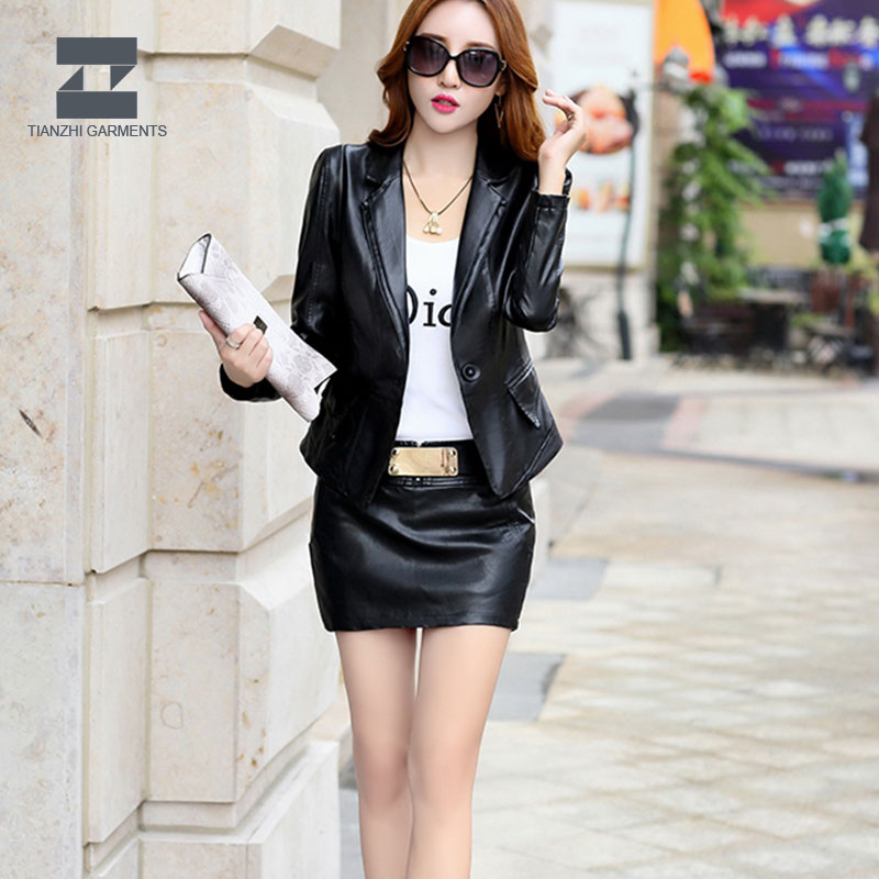 New design korean style women lambskin leather jacket