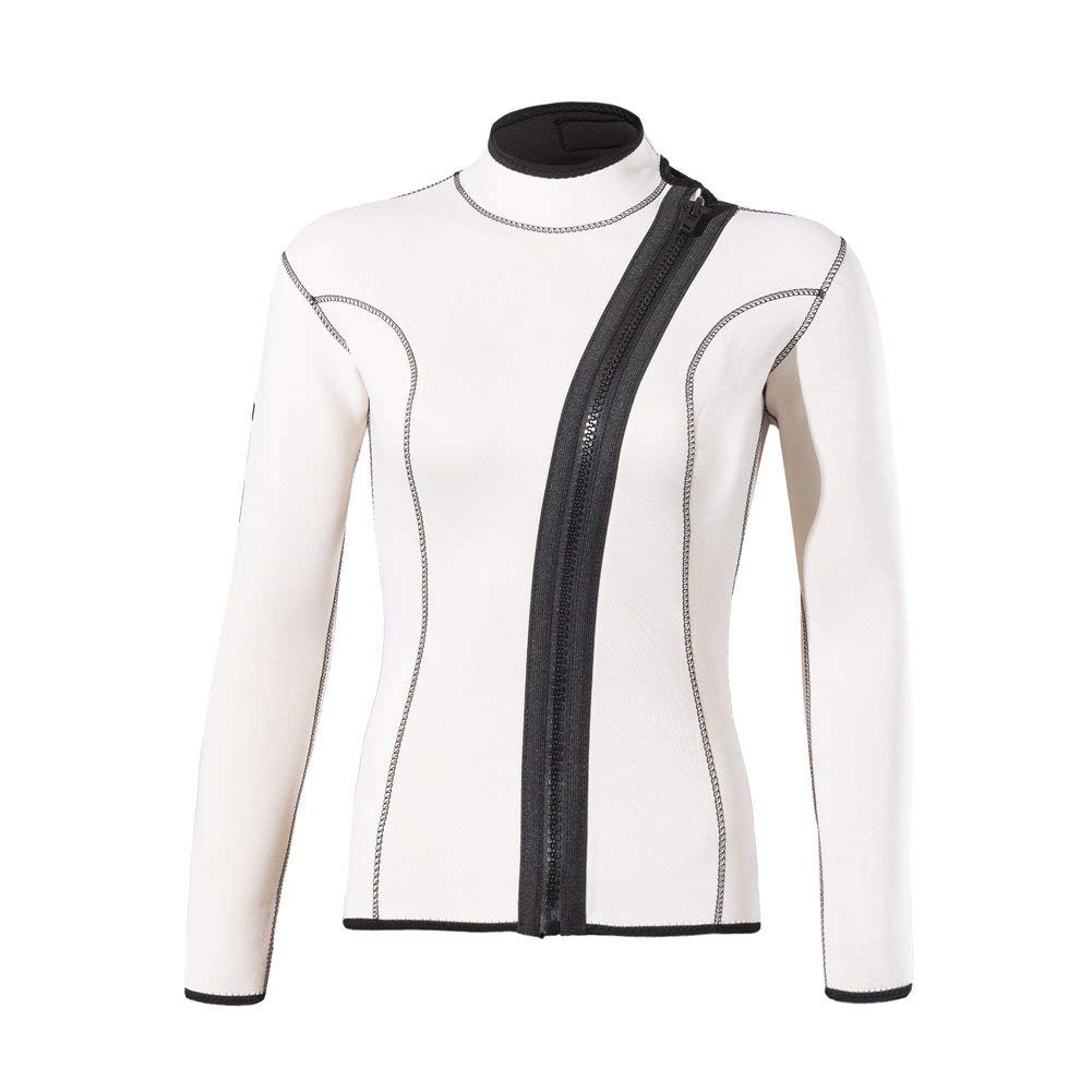 499e0554577 Get Quotations · divecica Woman 3mm Wetsuits Jacket Long Sleeve Neoprene  Wetsuits Top