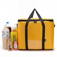Hot selling fashion custom lunch use thermal insulated yellow cooler bag