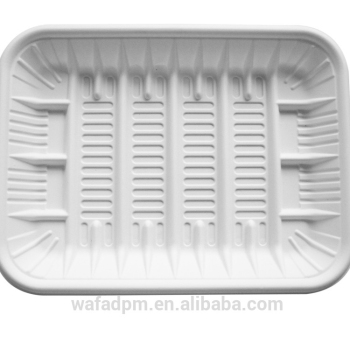 bioplastic disposable large meat tray for supermarket