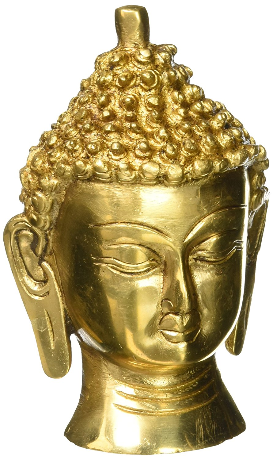 Buy Large Buddha Head Statue Wall Sculpture Art Decor Brass Metal ...
