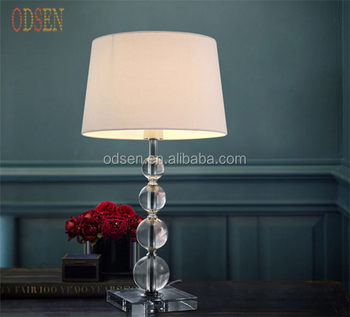 Fancy Design Crystal Table Lamp Home Decorative Table Lamp Made In