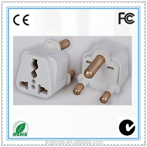 South Africa Indian plug 3 round pins universal travel adapter charger brazil socket wall