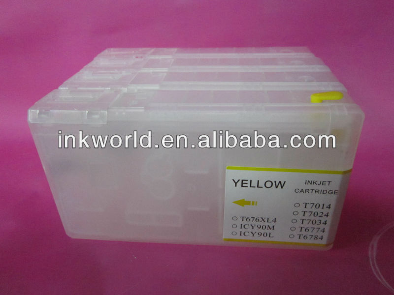T6771-6774 and T6781-6784 100ml refillable cartridges used for Epson WP-4532