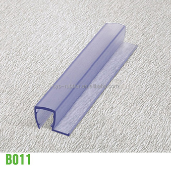 Gentil Bathroom Accessories Clear Pvc/silicone Shower Door Threshold Seal Strip