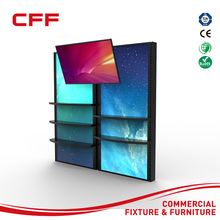 fashion store floor stand lcd touch screen advertising display withnon touch wall screen display