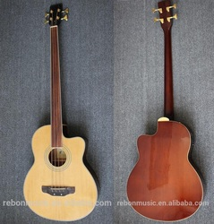 Weifang Rebon Fretless acoustic bass guitar with 4Band EQ