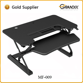 modern removable keyboard tray adjustable height computer stand up workstation office table - Stand Up Workstation