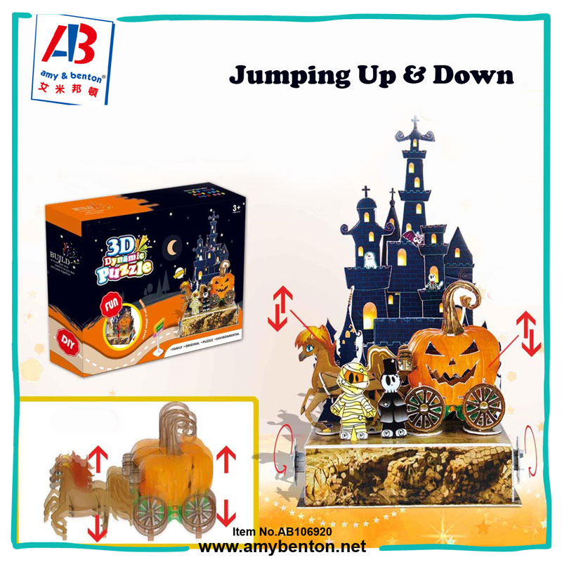 Halloween Pumpkins Design 3D Paper and EPS Dynamic Puzzle DIY Toy