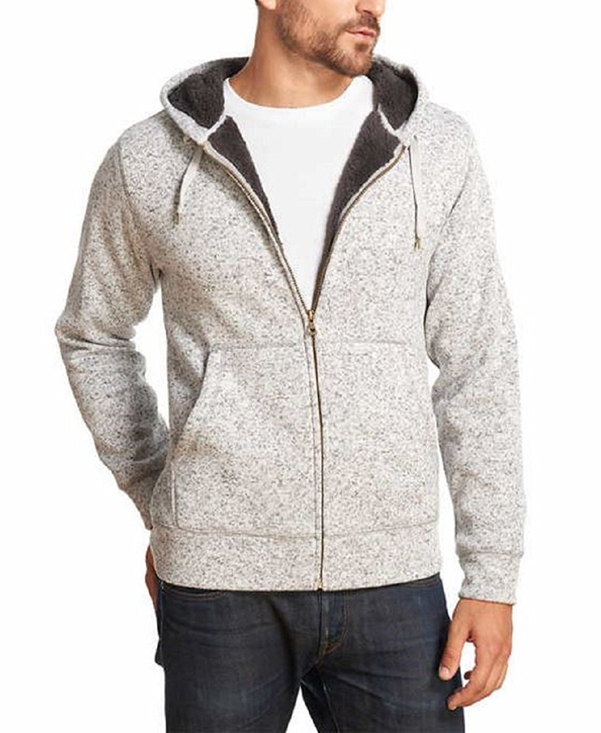Weatherproof Men's Sherpa Fleece Full Zip Hoodie