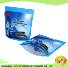 Food Grade Stand Up Pouch With Zipper For Sea Cucumber