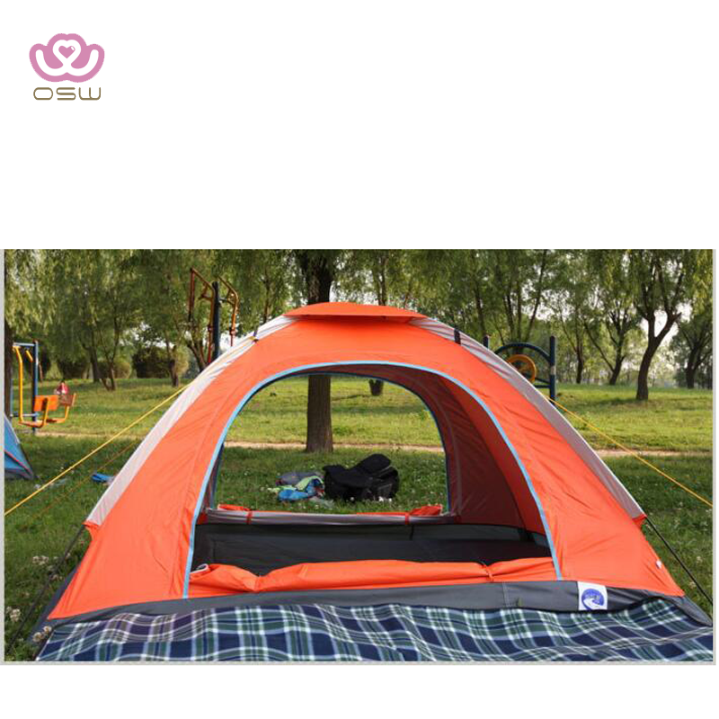 Red orange 1-2 person green camping tent outdoor & screen window design Portable Carrying Case Includes Stakes