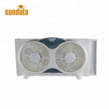 Sundate Ventilation Fan For Bathroom Portable Twin Window ...