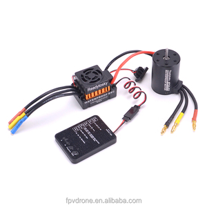 NEW Upgrade Waterproof 3650 4300KV RC Brushless Motor + 60A ESC + Programmer Combo Set for 1/10 RC Car Truck Motor kit