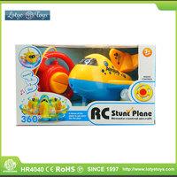 Super cute cartoon 2ch remote control stunt rc plane airplane china