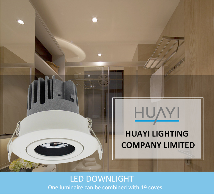 Guangdong Interior Round Aluminium Ip65 Waterproof COB LED Decor Downlight