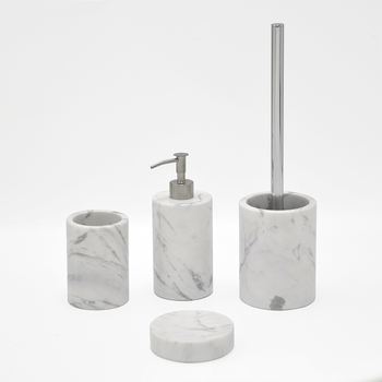4 Pieces Simply White Marble Pattern