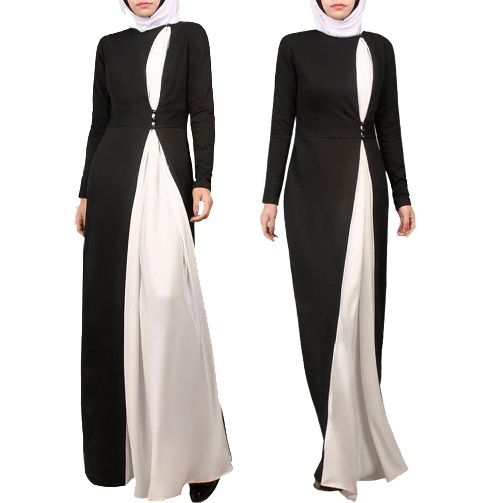 Black and white muslim girl school formal islamic school uniform designs abaya simple jilbab dubai фото
