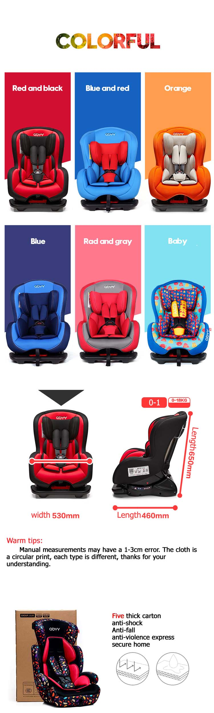 China supplier thick baby shield safety car seat
