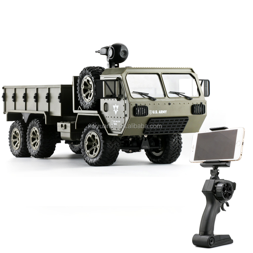 2.4G Full-Scale RC Military Truck 6WD pickup truck With Open Doors US Army Truck rc crawler for kids