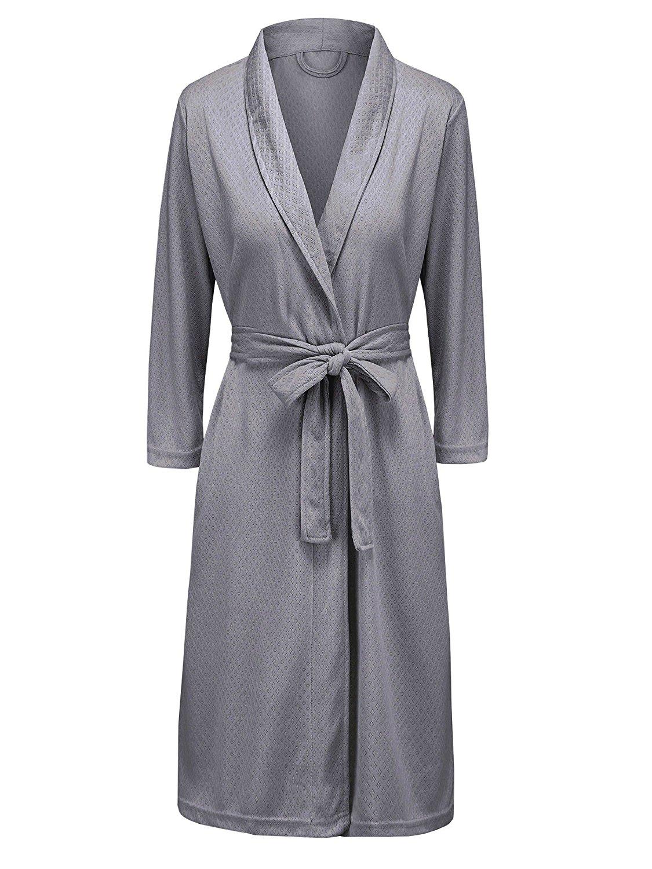 8238074510 Get Quotations · Bath Robe for Womens Soft Kimono Bathrobe Waffle Weave  Knee-Length Hotel Spa Robe Lightweight