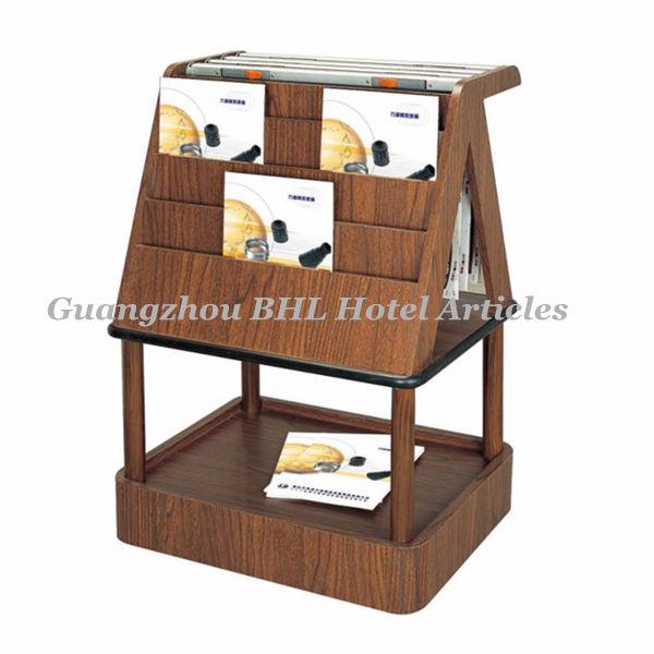 Support de livre en bois stand salle de bains porte revues - Porte revues en bois ...