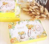 21*14*5cm thank you send flower to you Paper Box for Cake Cookie party gift Packaging Wedding Christmas Use