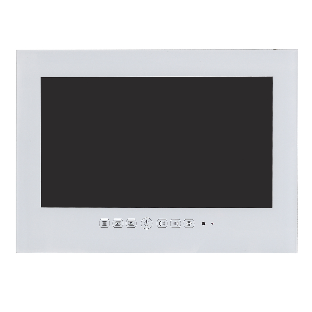 Souria 19 inch IP66 Waterproof Bathroom LED TV Waterproof Wall Mounted Flat Screen TV Black/White Shower TV