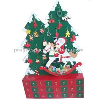 Santa Christmas Tree Wooden Advent Calendar Buy Wooden Advent