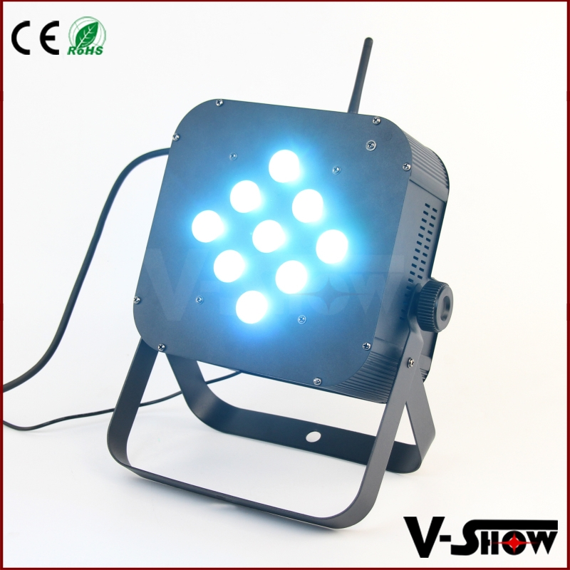 High power 9pcs 10w led flat par light RGBW/A color changing led par stage show led par light
