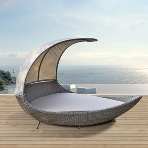 oval lounge outdoor wicker modern day bed furniture