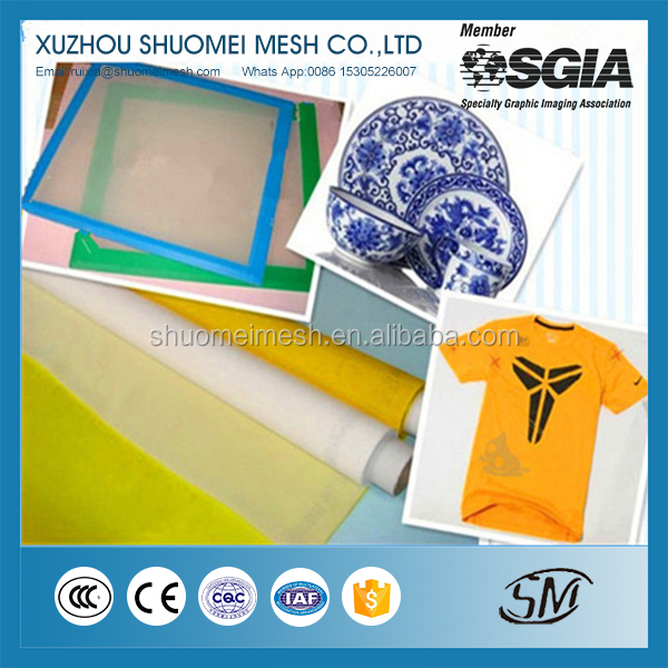 43T Polyester silk screen printing mesh/Monofilament Plain weave DPP Bolting Cloth for textile, towel, cardboard