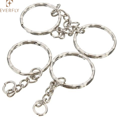 Superior Quality Steel Ripple Split Rings Key Rings Silver Round Chain Strog New