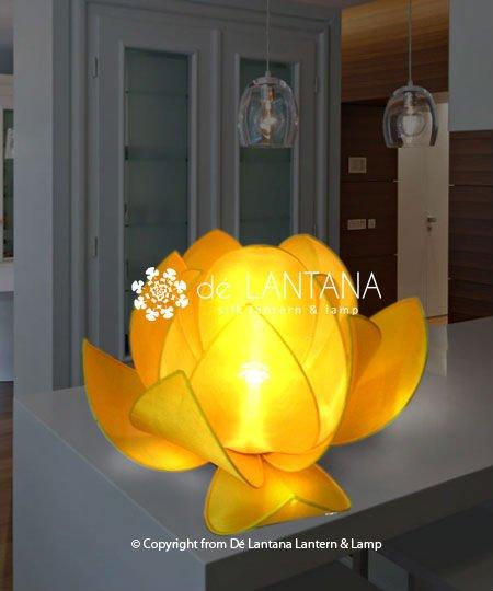 Vietnamese Silk Lotus Lamp