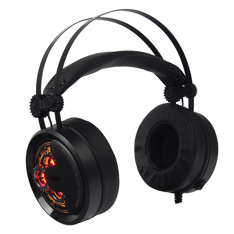 Pro Gaming Headphone Games Headset with Mic USB 7.1 Surround Sound Wired Game Headphone LED Light for PC Gamer